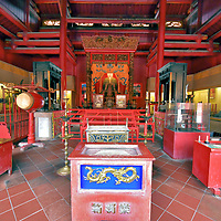 Inside Taisei Hall at Confucian Shrine in Nagasaki, Japan<br />