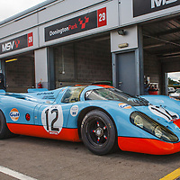 #12 Gulf Porsche 917 – chassis 008 on 18/07/2019, Rennsport Collective, Donington-Park, UK