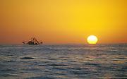 Shrimp boat at sunset, Cabo San Lucas, Baja, Mexico