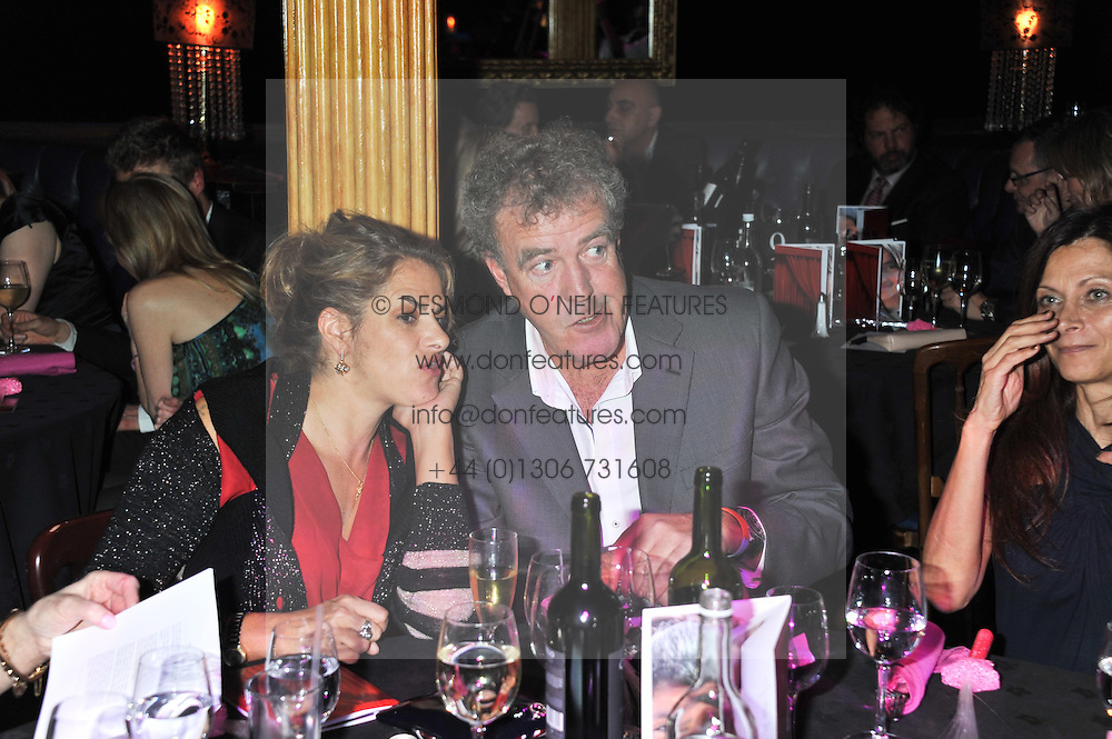 TRACEY EMIN and JEREMY CLARKSON at the Hoping Variety Show - A benefit evening for Palestinian Refugee Children held at The Cafe de Paris, Coventry Street, London on 21st November 2011.