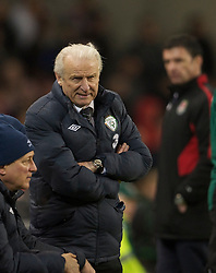 DUBLIN, IRELAND - Tuesday, February 8, 2011: Republic of Ireland's manager Giovanni Trapattoni during the opening Carling Nations Cup match against Wales at the Aviva Stadium (Lansdowne Road). (Photo by David Rawcliffe/Propaganda)