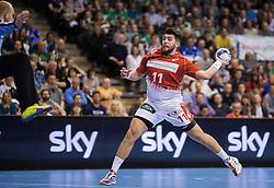 Berlin, Deutschland, 16.05.2015:<br />Handball EHF Pokal Halbfinale Spiel 1 2014 / 2015 - Skjern Handbold - HSV Hamburg - EHF CUP Finals 2014/15.<br /><br />Kevin Herbst (HSV #11) *** Local Caption *** © pixathlon