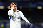 Junya Ito of Genk reacts during the UEFA Champions League, Group E football match between SSC Napoli and KRC Genk on December 10, 2019 at Stadio San Paolo in Naples, Italy - Photo Federico Proietti / ProSportsImages / DPPI