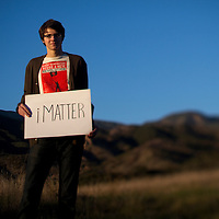 Portrait of Alec Loorz, a teenage environmental activist.