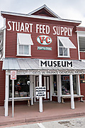 Stuart Heritage Museum located in the 1901 Parks General Store in the historic downtown in Stuart, Florida. The tiny hamlet was founded in 1870 and was voted the Happiest Seaside Town in America by Coastal Living.