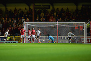 Northampton Town Midfielder, Harry Beautyman (16) scores to make it 0-1 during the EFL Sky Bet League 1 match between Swindon Town and Northampton Town at the County Ground, Swindon, England on 27 September 2016. Photo by Adam Rivers.