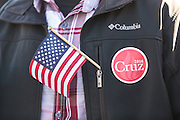 A supporter of Senator and GOP presidential candidate Ted Cruz during a campaign event at Ottawa Farms December 19, 2015 in Bloomingdale, Georgia.