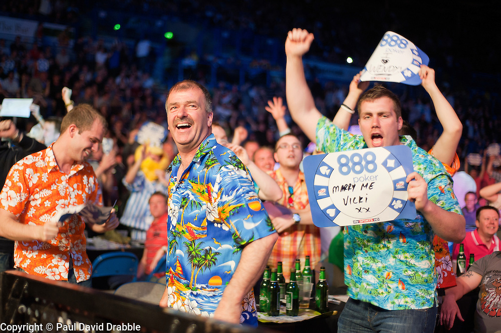 Premier League darts piece at Sheffield  Motorpoint Arena...14 April 2011.Images © Paul David Drabble