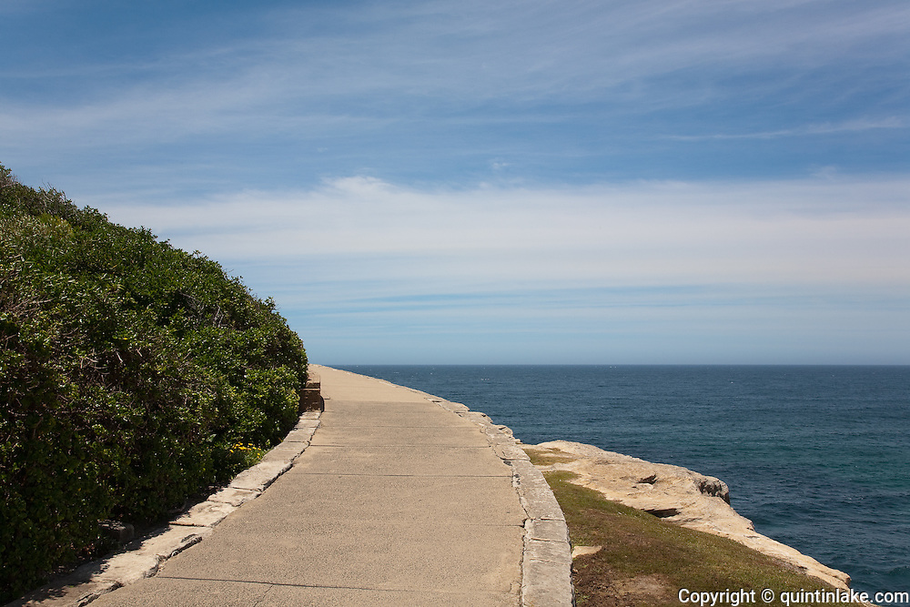 Coogee to Bondi beach Coastal path. a part of the walk with a sparse and minimalist landscape