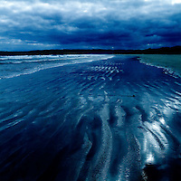 Ripples in the sand on a beach