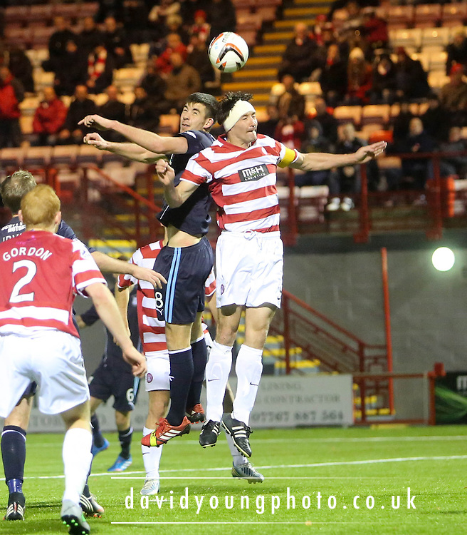 Declan Gallagher and Martin Canning - Hamilton Academical v Dundee, SPFL Championship at New Douglas Park<br /> <br />  - &copy; David Young - www.davidyoungphoto.co.uk - email: davidyoungphoto@gmail.com