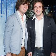 NLD/Aalsmeer/20131206 - Premiere Frozen, Mattjis Vrieze en partner Niels