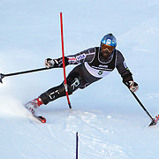 Ralph Green, USA, in action during the Men's Slalom Standing, Adaptive Slalom competition at Coronet Peak, New Zealand during the Winter Games. Queenstown, New Zealand, 25th August 2011. Photo Tim Clayton