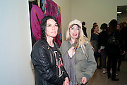 SUE WEBSTER; ANNE MCLOY, Marc Quinn exhibition opening. Allanah, Buck, Catman, Michael, Pamela and Thomas. White Cube Hoxton Sq. London. 6 May 2010.  *** Local Caption *** -DO NOT ARCHIVE-© Copyright Photograph by Dafydd Jones. 248 Clapham Rd. London SW9 0PZ. Tel 0207 820 0771. www.dafjones.com.<br /> SUE WEBSTER; ANNE MCLOY, Marc Quinn exhibition opening. Allanah, Buck, Catman, Michael, Pamela and Thomas. White Cube Hoxton Sq. London. 6 May 2010.