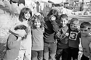 Shatila, the &quot;gipsy camp&quot; below the Sports city of Beirut. Children are everywhere!<br />  <br /> Chatila, camp des &laquo;Nourieh&raquo; (Tsiganes). Les enfants sont partout!