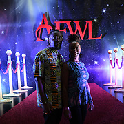 Sam and Vernetta is a musician attend African Fashion Week London 2019 #AFWL2019 - backstage at Freemasons Hall on 9 August 2019, London, UK.