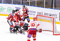 2020-01-19 | Umeå, Sweden: Vallentuna (33) Andreas Paulsson in action in AllEttan during the game  between Teg and Vallentuna at A3 Arena ( Photo by: Michael Lundström | Swe Press Photo )<br /> <br /> Keywords: Umeå, Hockey, AllEttan, A3 Arena, Teg, Vallentuna, mltv200119