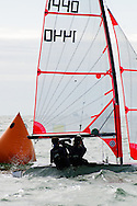 Miami, FL, USA, January 4, 2014 - The team of Jean Mathieu Boland and Ben STrickland  round the windward mark at the 29er Nationals held at Coconut Grove Sailing Club, Jan 1-4, 2013.  Canada was well-represented at the event with no less than 7 out of 23 entries at the event.