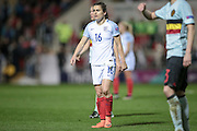 Karen Carney (England) during the Euro 2017 qualifier between England Ladies and Belgium Ladies at the New York Stadium, Rotherham, England on 8 April 2016. Photo by Mark P Doherty.