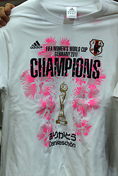 17.07.2011, Commerzbankarena, Frankfurt, GER, FIFA Women Worldcup 2011, Finale,  Japan (JPN) vs. USA (USA), im Bild:  ..Siegershirt Japan.. // during the FIFA Women Worldcup 2011, final, Japan vs USA on 2011/07/11, FIFA Frauen-WM-Stadion Frankfurt, Frankfurt, Germany.   EXPA Pictures © 2011, PhotoCredit: EXPA/ nph/  Mueller       ****** out of GER / CRO  / BEL ******