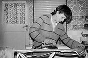 Samantha Lawes Ironing, Hawthorne Rd, High Wycombe, UK, 1980s.