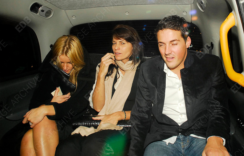15.OCTOBER.2007. LONDON<br /> <br /> DAVINIA TAYLOR AND HUSBAND DAVE GARDNER LEAVING AUTOMAT RESTAURANT, MAYFAIR AT 2.30AM AFTER ATTENDING SARAH FURGURSON&rsquo;S 48TH BIRTHDAY.<br /> <br /> BYLINE: EDBIMAGEARCHIVE.CO.UK<br /> <br /> *THIS IMAGE IS STRICTLY FOR UK NEWSPAPERS AND MAGAZINES ONLY*<br /> *FOR WORLD WIDE SALES AND WEB USE PLEASE CONTACT EDBIMAGEARCHIVE - 0208 954 5968*