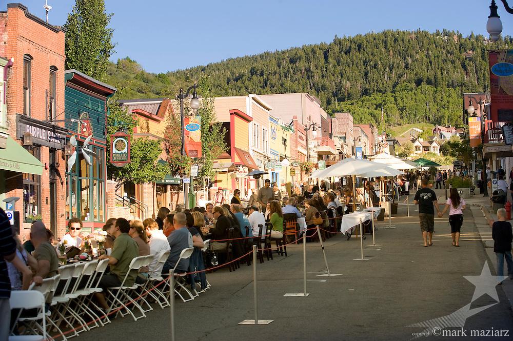 Grande Table event on Historic Main Street, park City Utah