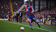 Martin Kelly plays a defensive ball during the Barclays Premier League match between Crystal Palace and West Ham United at Selhurst Park, London, England on 17 October 2015. Photo by Michael Hulf.
