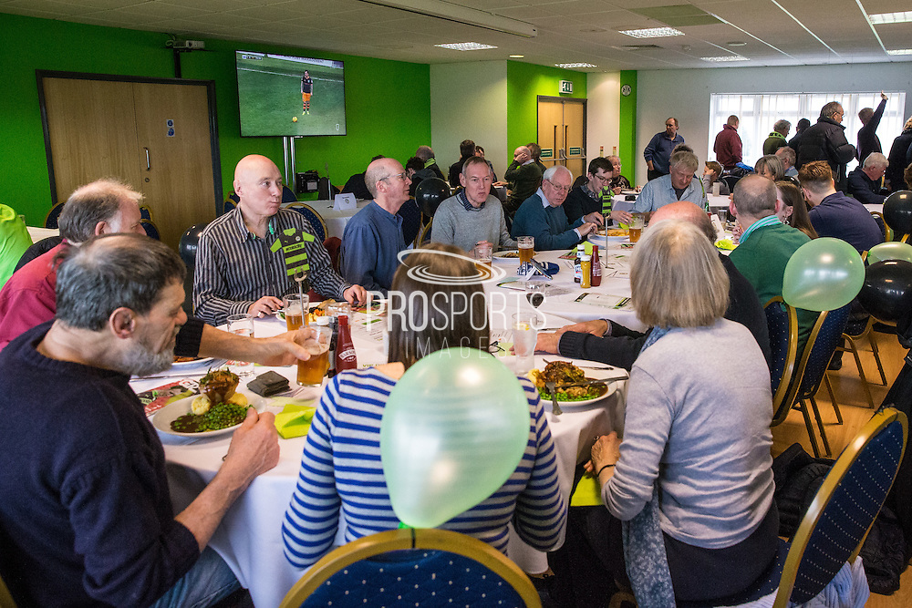 Birthday party in the Carol Embrey suite during the Vanarama National League match between Forest Green Rovers and Woking at the New Lawn, Forest Green, United Kingdom on 25 February 2017. Photo by Shane Healey.