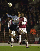 Photo: Greig Cowie<br />Champions League Second Group Stage. Group B Arsenal v Ajax. 18/02/2002<br />Patrick Viera challenges  Steven Pienaar of Ajax
