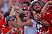 Fans celebrate a Wolfpack touchdown.