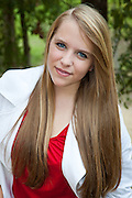 Alexis Welliver senior portraits at Ron Blitch's home in Abita Springs