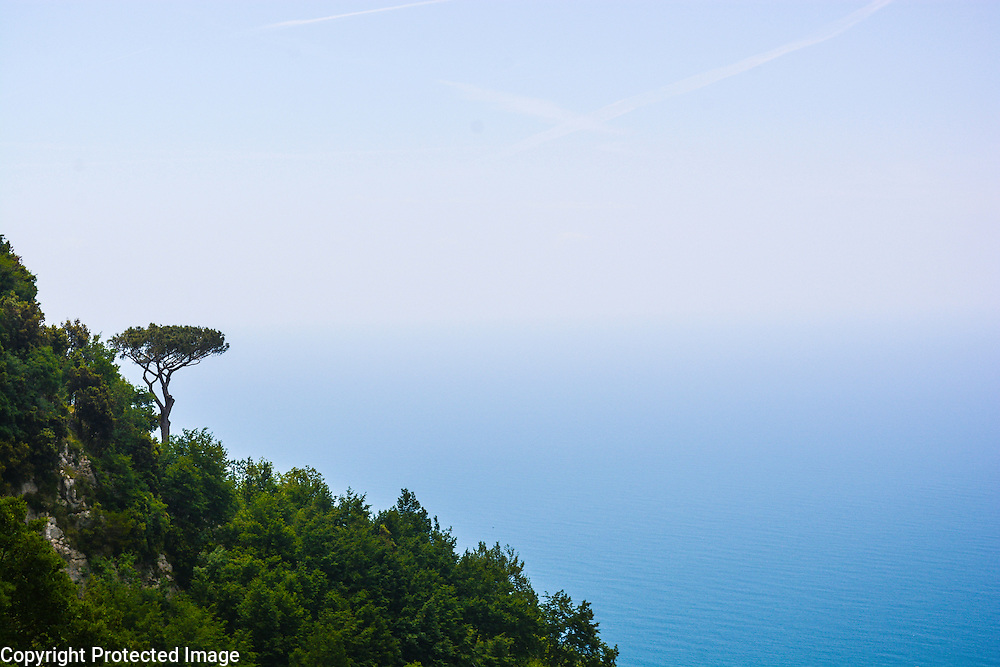 View over the Tyrrhenian Sea from Sentiero Degli Dei (Walk of the Gods), on the Amalfi Coast