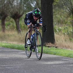 31-08-2018: Wielrennen: Ladies Tour: Weert<br />leidster Shapira geeft zelf al aan dat ze 2 minuten voorsprong heeft;