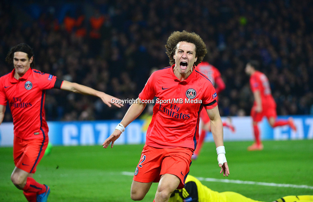 Joie David LUIZ - 11.03.2015 - Chelsea / Paris Saint Germain - 1/8Finale retour Champions League<br /> Photo : Dave Winter / Icon Sport