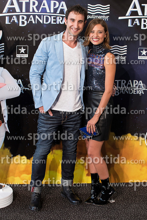 26.08.2015, Kinepolis Cinema, Madrid, ESP, Atrapa la Bandera, Premiere, im Bild Spanish actor Dani Rovira and spanish actress Michelle Jenner attends to the photocall // during the premiere of spanish cartoon 'Capture The Flag&quot; at the Kinepolis Cinema in Madrid, Spain on 2015/08/26. EXPA Pictures &copy; 2015, PhotoCredit: EXPA/ Alterphotos/ BorjaB.hojas<br /> <br /> *****ATTENTION - OUT of ESP, SUI*****