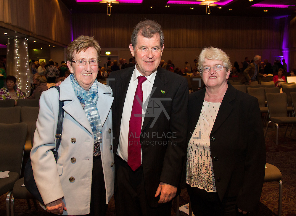 11.10.2016         <br /> Pictured at the Grand Final of the Limerick Going for Gold 2016 Awards were, Noreen Naughton, Mountcollins, JP McManus and Ann Cahill, Mountcollins. Picture: Alan Place