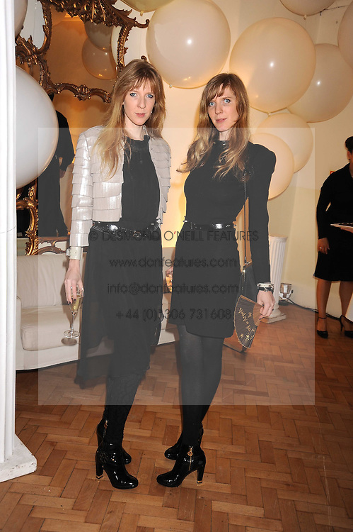 Left to right,Twin sisters ANNETTE FELDER and DANIELA FELDER of the fashion label Felder & Felder at Vogue's Fantastic Fashion Fantasy Party in association with Van Cleef & Arpels to celebrate Vogue's Secret Address Book held at One Marylebone Road, London NW1 on 3rd November 2008.
