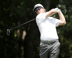 May 25, 2018 - Fort Worth, TX, USA - Charley Hoffman tees off on hole number 12 during the second day of the Invitational at Colonial Friday, May 25, 2018 in Fort Worth, Texas. (Credit Image: © Brad Loper/TNS via ZUMA Wire)