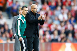 Vitesse Arnhem manager Peter Bosz gets animated during the first half - Mandatory by-line: Jason Brown/JMP - Mobile 07966386802 - 31/07/2015 - SPORT - FOOTBALL - Southampton, St Mary's Stadium - Southampton v Vitesse Arnhem - Europa League
