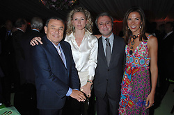 Left to right, SOL KERZNER, JO MANOUKIAN, RAFFI MANOUKIAN and HEATHER KERZNER at the annual Cartier Chelsea Flower Show dinner held at the Chelsea Physic Garden, London on 21st May 2007.<br />