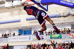 Fred Thomas of Bristol Flyers slam dunks - Photo mandatory by-line: Ryan Hiscott/JMP - 13/04/2019 - BASKETBALL - SGS Wise Arena - Bristol, England - Bristol Flyers v Manchester Giants - British Basketball League Championship