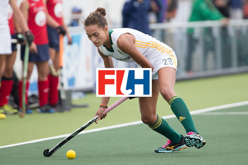 THE HAGUE - Rabobank Hockey World Cup 2014 - 10-06-2014 - WOMEN - USA - SOUTH AFRICA - Quanita Bobbs.<br /> Copyright: Willem Vernes