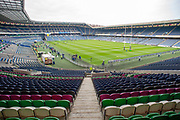 General view inside BT Murrayfield Stadium, Edinburgh, Scotland before the Guinness Pro 14 2018_19 match between Edinburgh Rugby and Ulster Rugby on 12 April 2019.