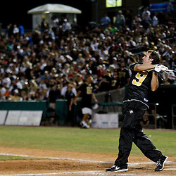 May 17, 2011; Metairie, LA, USA; New Orleans Saints quarterback Drew Brees (9) during the Heath Evans Foundation charity softball showdown featuring the offense versus the defensive players at Zephyrs Field.  Mandatory Credit: Derick E. Hingle