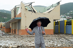 The Prince of Wales views damage on the British Virgin Islands caused by Hurricane Irma, as he continues his tour of hurricane-ravaged Caribbean islands.