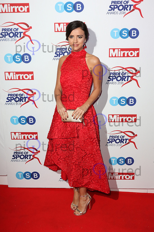 Lucy Mecklenburgh, Pride of Sport Awards, Grosvenor House Hotel, London UK, 07 December 2016, Photo by Richard Goldschmidt