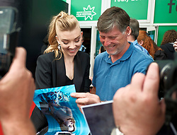 Edinburgh International Film Festival, Tuesday, 26th June 2018<br /> <br /> IN DARKNESS (EUROPEAN PREMIERE)<br /> <br /> Pictured:  Natalie Dormer meets the fans<br /> <br /> (c) Alex Todd | Edinburgh Elite media