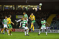 Yeovil - Saturday December 12th, 2009:  Norwich's Gary Doherty scores his sides 2nd goal and celebrates during the Coca Cola League One match at Huish Park, Yeovil. (Pic by Paul Chesterton/Focus Images)