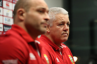 Rugby Union - 2017 British & Irish Lions Tour of New Zealand - British & Irish Lions <br /> <br /> Rory Best captain of The British and Irish Lions side to play The Hurricanes and Warren Gatland, the Lions head coach face the media a media conference at Meridian Energy.<br /> <br /> COLORSPORT/LYNNE CAMERON